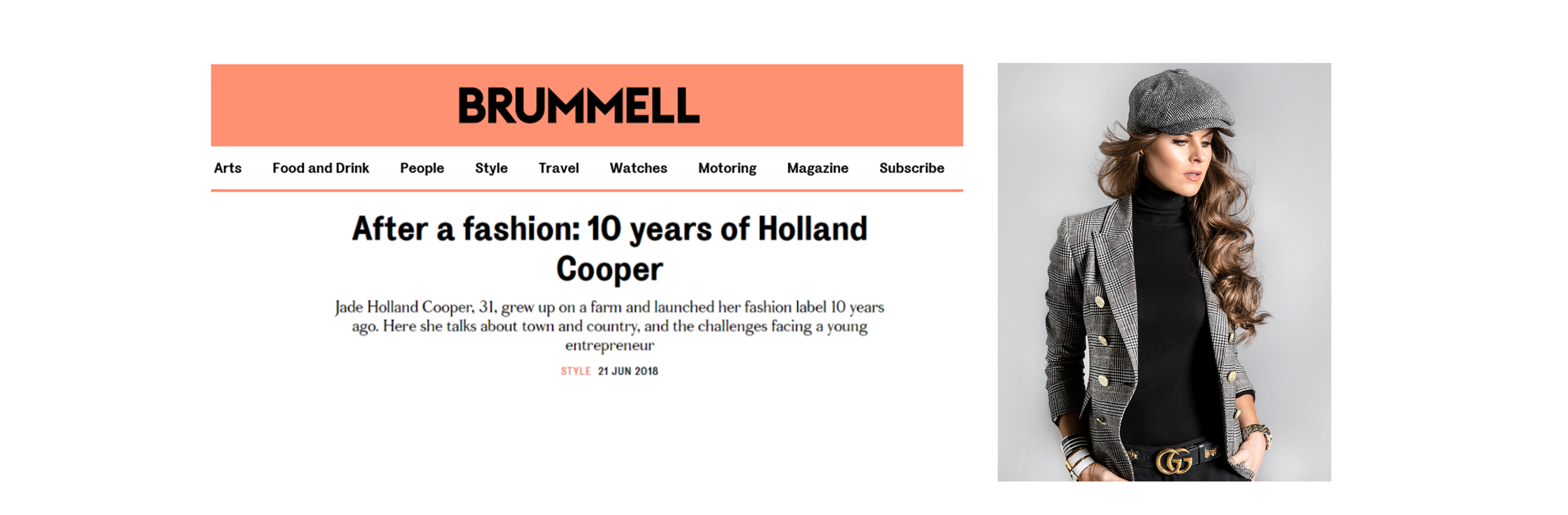 HC in Brummel Magazine