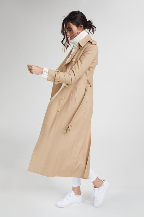 Full Length Marlborough Trench Coat (Camel)