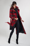 Full Length Marlborough Trench Coat (Red Tartan)