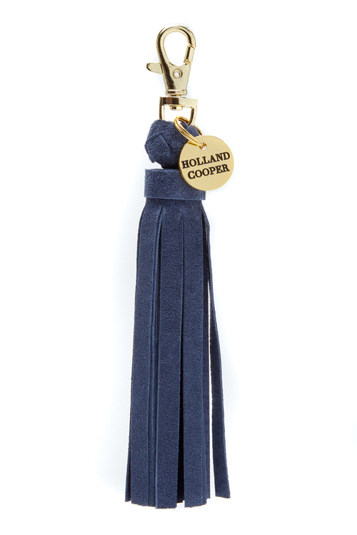 Mayfair Tassel (Navy Suede)