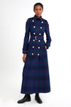 Full Length Marlborough Trench Coat (Heather Tartan)