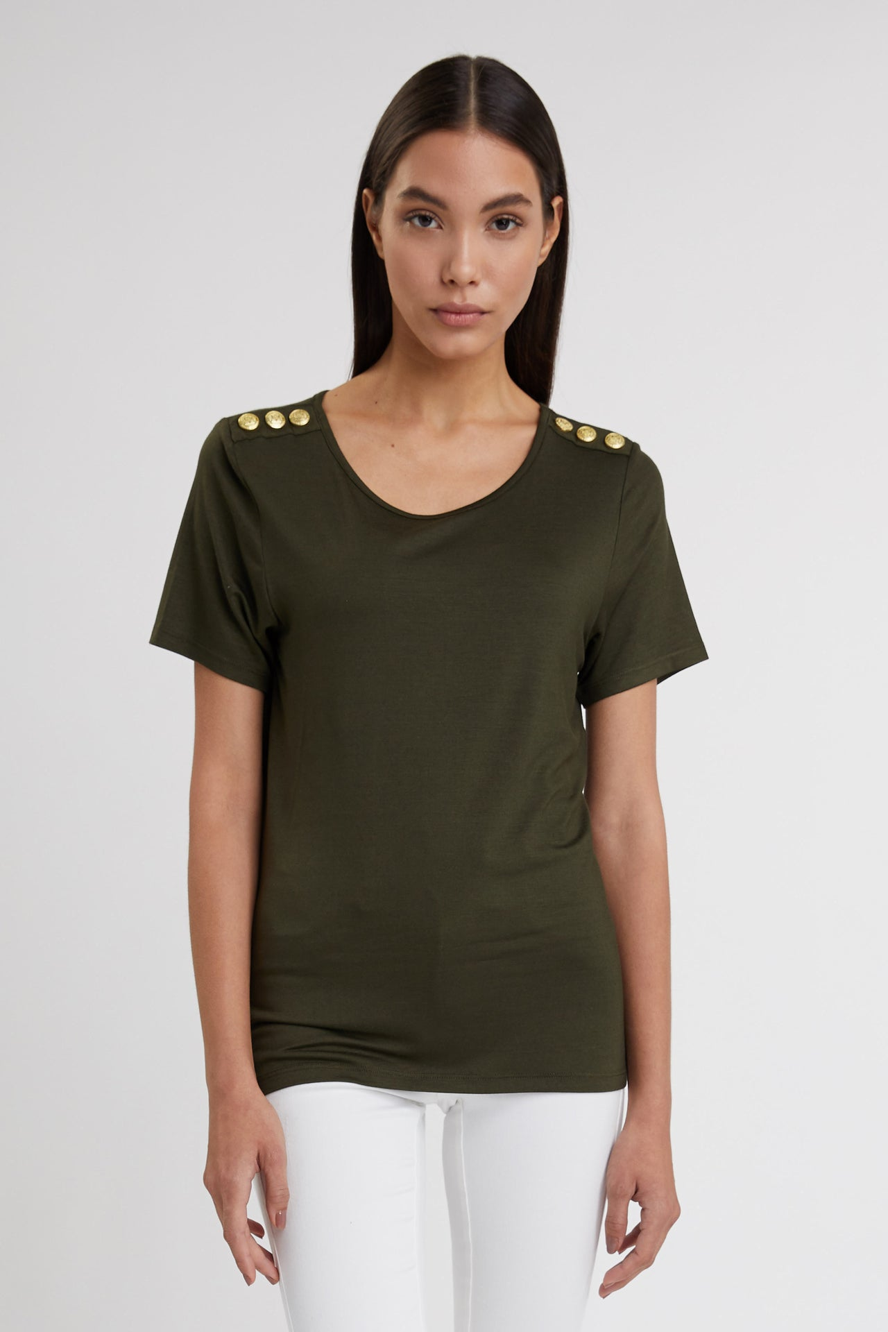 Relax Fit Crew Neck Tee (Khaki)