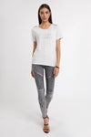 Relax Fit Crystal Crew Neck Tee (Ice Marl)