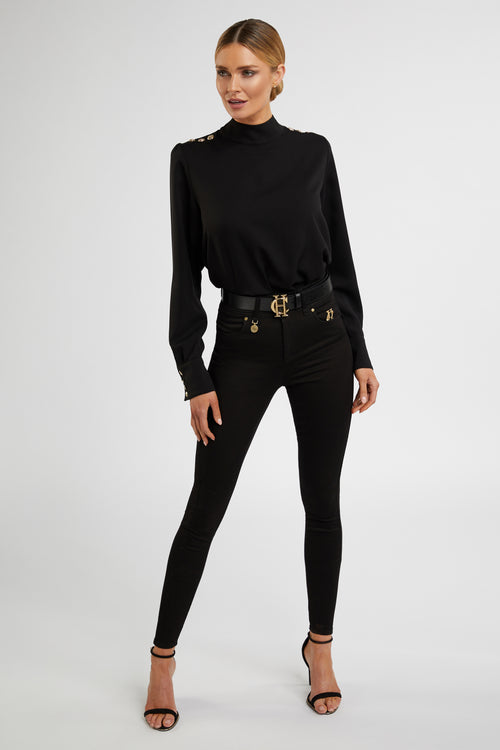 High Neck Shirt (Black)