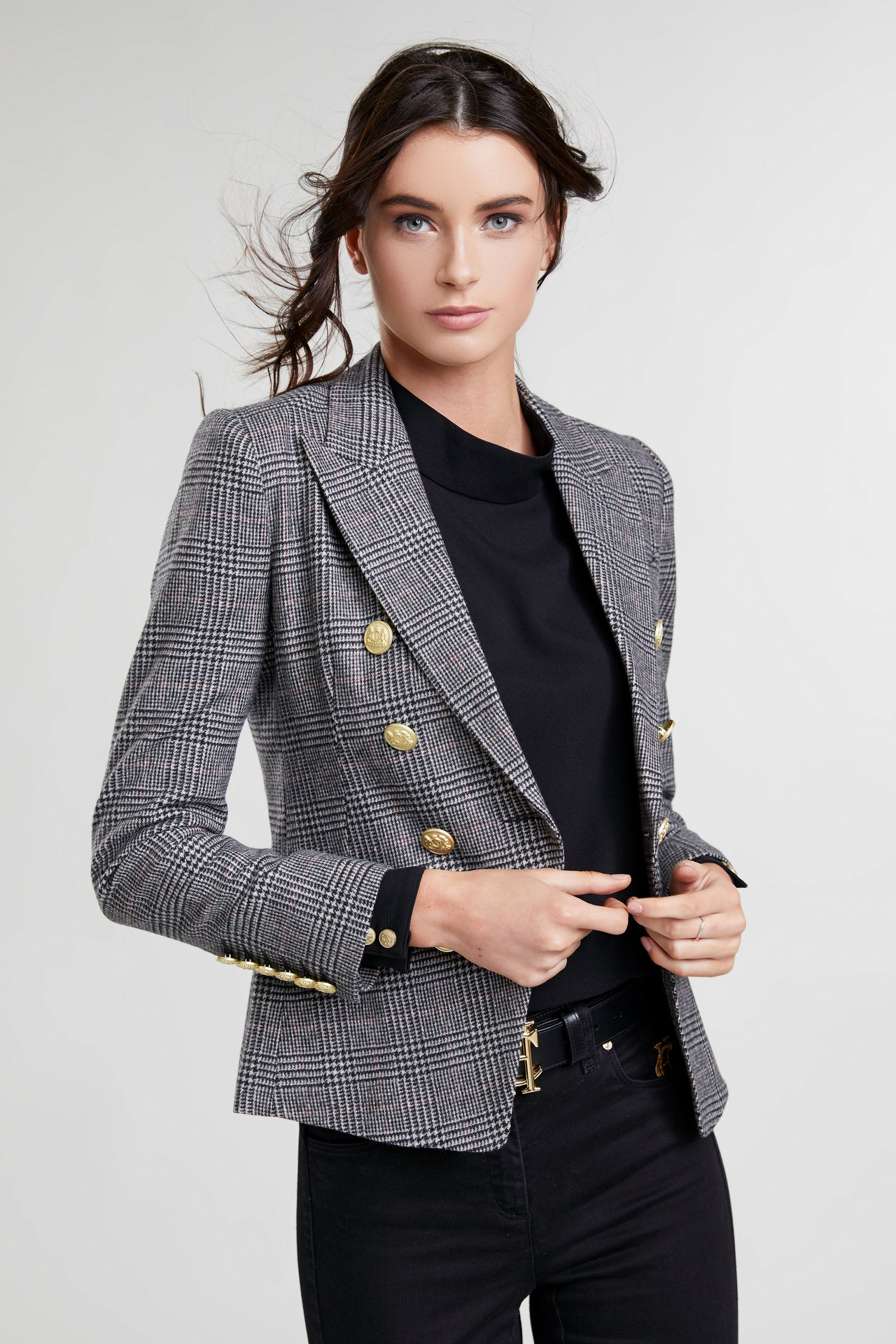 Knightsbridge Blazer (Black Prince of Wales Check)