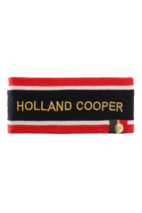 Iconic Tri-Colour Headband (Navy)