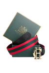 HC Classic Belt (Black with Green & Red)