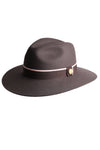 Trilby Hat (Charcoal/Soft Pink)