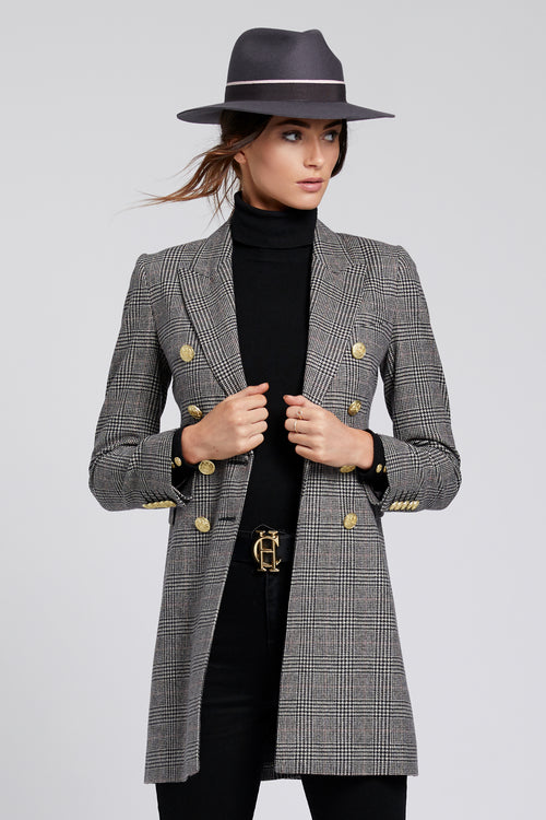 Knightsbridge Coat (Prince of Wales Check)