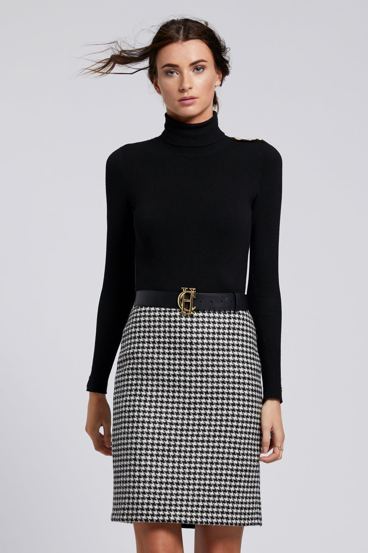 Chelsea Pencil Skirt (Houndstooth)