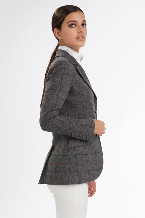 Tweed Riding Jacket (Mid Blue Check)