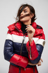 Megeve Down Puffer Coat (Tri-Colour)