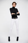 Buttoned Knit Roll Neck (Black)