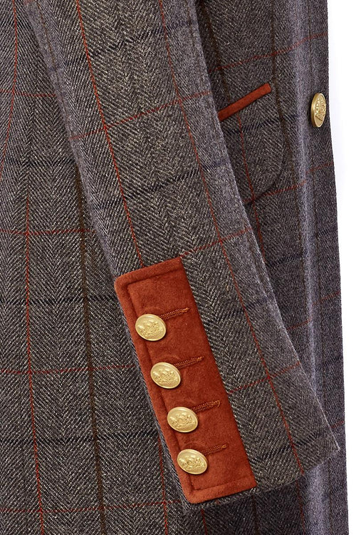 Kempton Coat (Mid Blue Check)