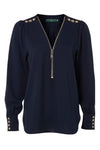 Zip Shirt (Ink Navy)