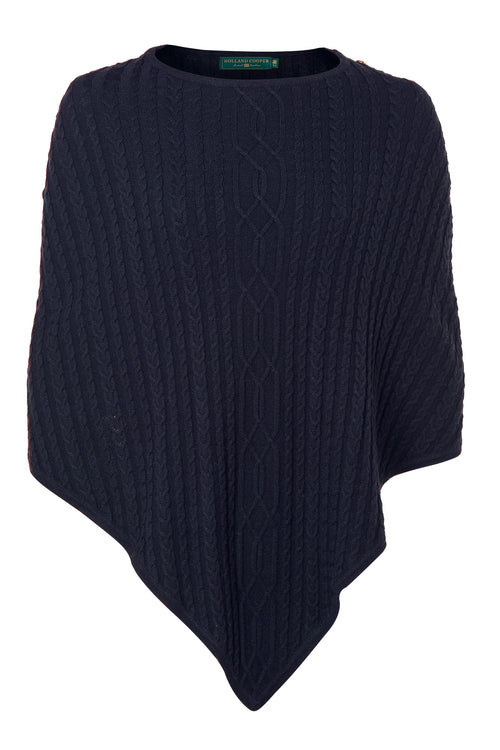 The Windsor Knit Wrap (Ink Navy)