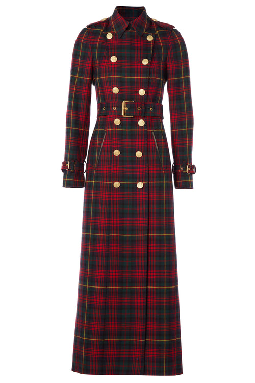 Full Length Marlborough Trench Coat (Logan Tartan)