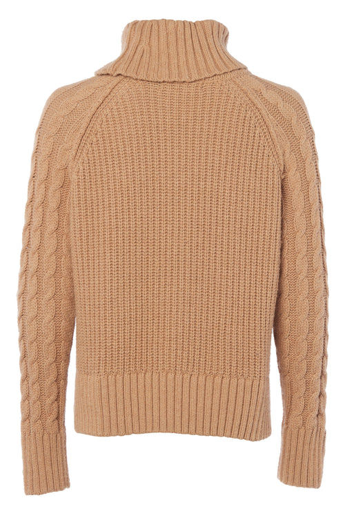 Portland Chunky Cable Jumper (Camel)