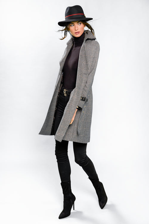 Marlborough Trench Coat (Prince of Wales Black)