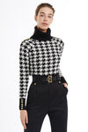 Houndstooth Fitted Knit