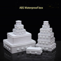 Wholesale ABS Plastic IP65 Waterproof Junction Box DIY Outdoor Electrical Connection box Cable Branch box Power Distribution Box