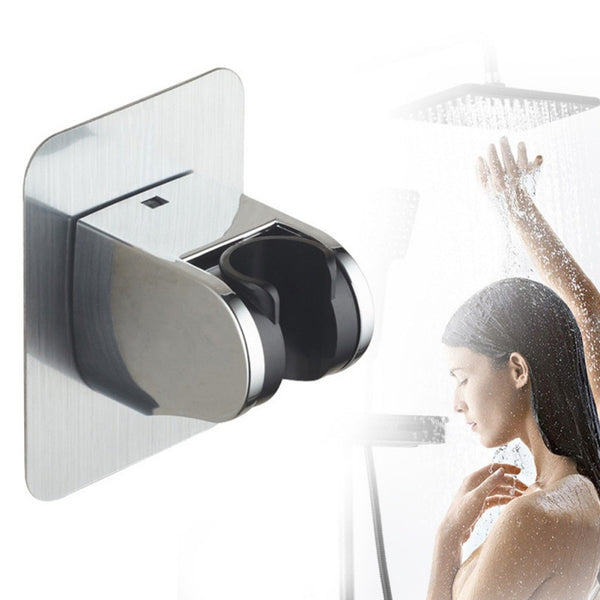 1PCS Wall Mount Punch Free Head Holder Base Movable Fixed Bracket Shower Room Arm Swivel Seat Chuck Bathroom Accessories 2 2