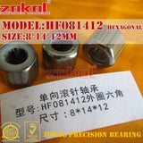 ZOKOL bearing HF081412 EWC0812 Outer ring octagon One way needle roller bearing 8*14*12mm Knurled Hexagon