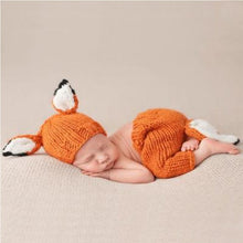 Load image into Gallery viewer, Cute Baby Fox clothing Infant Knit Hat Fox Ears Cap+Pants Set.