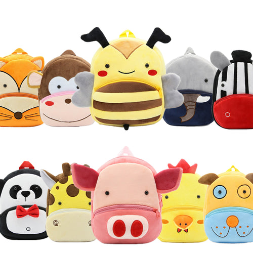 Little Hands Backpacks: Monkey, Koala, Bee, Zebra, Fox, Dog, Pig, Shark, Lion, Elephant, and so many more