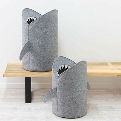 Shark! Storage to gobble up your dirty clothes and extra toys Felt Storage Bag For Kids Hand made