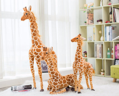 AA- Giraffe Plush Animal So Soft to be treasured 23 inches and 31 inches tall