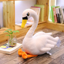 Load image into Gallery viewer, Swan plush toys  plush white pink