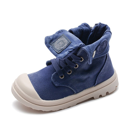 SH- Canvas Kids  Shoes 2019 Spring Girls Canvas Martin Boots Hot Sale Rubber Boys Sneakers Children Ankle Boots Kids Footwear Girls