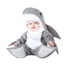 Load image into Gallery viewer, Baby- Halloween was never so cute than with your little one warm in a Shark Costume to be played in many more times.