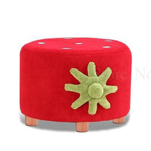 Load image into Gallery viewer, Children's small stool-strawberry velvet texture for children's bedroom or playroom. Coordinates with Love Seat and Chair.