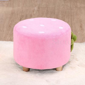 Children's small stool-strawberry velvet texture for children's bedroom or playroom. Coordinates with Love Seat and Chair.