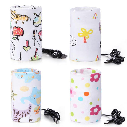 MH-Brilliant Portable Baby Bottle  USB  Warmer Insulated Bag Portable Travel Cup Warmer Baby Nursing Bottle Cover Warmer Heater Bag Infant Feeding Bottle Bags