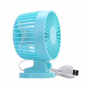 USB Charging Portable Handheld Electric Fan Air Conditioner Cooler Cooling Fan Summer Desk Table Cooling Fans Blue Pink