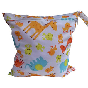 MH-Nappy Bags Cartoon Colorful Print Waterproof Wet Bag for Babies Cloth Nappy Diaper Bag Wipes Swimwear Picnic Pool Reusable