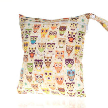 Load image into Gallery viewer, MH-Nappy Bags Cartoon Colorful Print Waterproof Wet Bag for Babies Cloth Nappy Diaper Bag Wipes Swimwear Picnic Pool Reusable