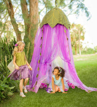 Load image into Gallery viewer, Fairy Crown Canopy for little woodland creatures to play the day away.