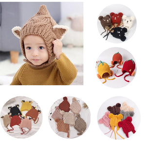Warm Winter Knitted Hat Winter Hat for babies to toddlers.