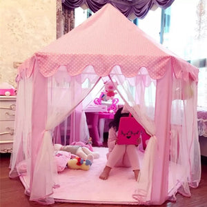 Children's Princess Pink Castle Tents. Portable play areas for Boys and Girls. Indoor and Outdoor Garden Folding Play Tent and available accessories.