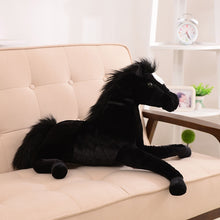 Load image into Gallery viewer, AA- Large gorgeous Horses Colors Black Horse Plush Brown Horse  Plush
