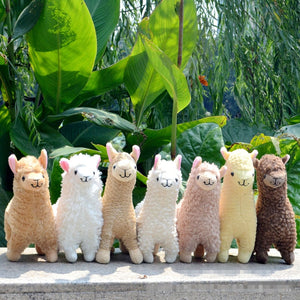 AA- Lovely 23cm White Alpaca Llama Plush Toy Doll Animal Stuffed Animal Dolls Japanese Soft Plush Alpacasso For Kids Birthday Gifts