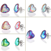 Load image into Gallery viewer, New Tiny Colorful Heart Love Design Stud Earring For Women Fashion  Pattern Earring