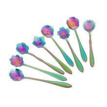 Load image into Gallery viewer, Spoons-Beautiful Bouquet of 8 flower teaspoons, perfect for any celebration.