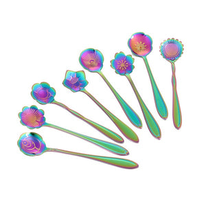 Spoons-Beautiful Bouquet of 8 flower teaspoons, perfect for any celebration.