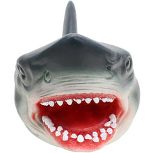 Load image into Gallery viewer, Shark Hand Puppet For Stories Non-toxic Soft Rubber Pet Shark, Giraffe, or Lion!