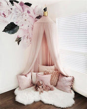 Load image into Gallery viewer, RD- Beautiful Baby Room Decor Wall Design to add luxury to your favorite relaxing spot Hanging Mantle Nets Tents Kids Bedroom Decor